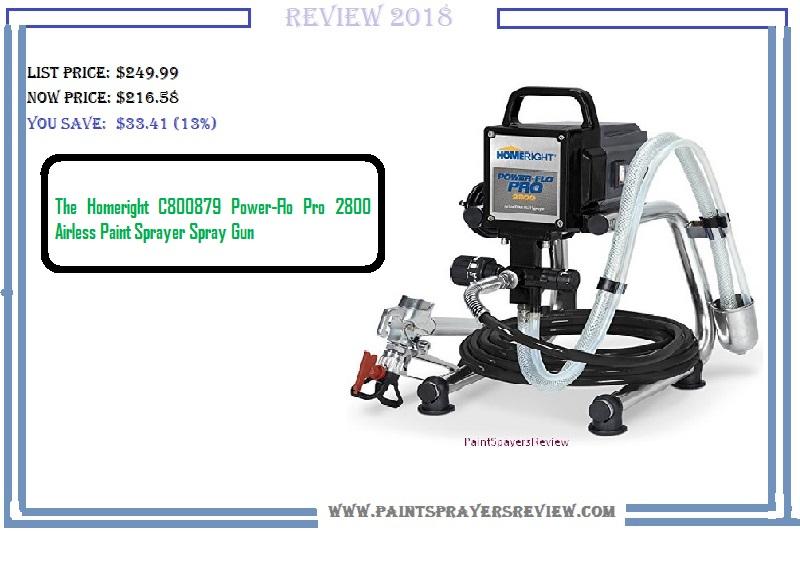 The Homeright C800879 Power-Flo Pro 2800 Airless Paint Sprayer Spray Gun
